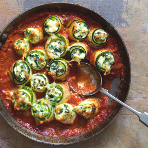 Cannelloni met courgette, ricotta en spinazie
